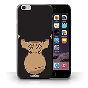 KOBALT? Protective Hard Back Phone Case / Cover for iPhone 6+/Plus 5.5 | Gorilla/Chimp/Monkey Design | Animal Faces Collection