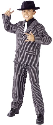 History Themed Costume (Boy's Gangster Costume by Fun World Costumes - Size 8 / 10)