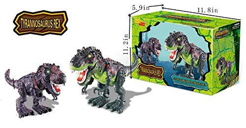Tyrannosaurus Rex TREX Walking Dinosaur LED Eyes & Tongue with Realistic Roars Sounds Dinosaur Century Family]()