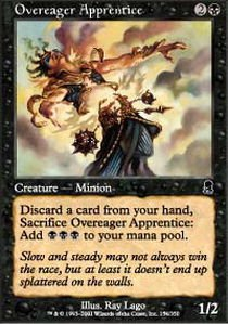 Magic: the Gathering - Overeager Apprentice - Odyssey - (Apprentice Foil)