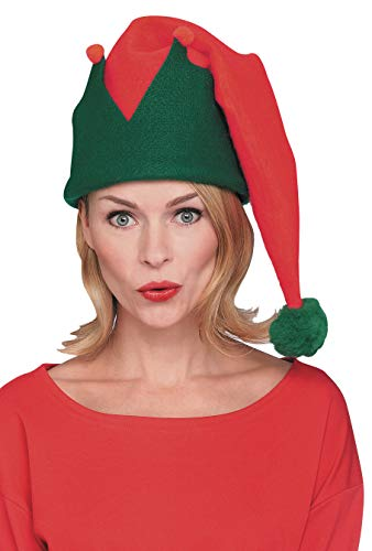 Rubie's Costume Men's Long Elf Hat, Red/Green, One -