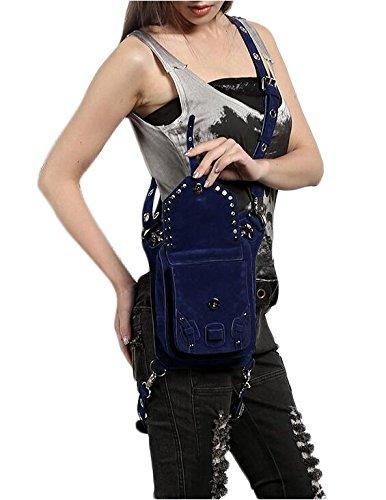 para Mujer Punk de vaporizador Bandolera Color Lila diseño Bolso qtqc4Efr