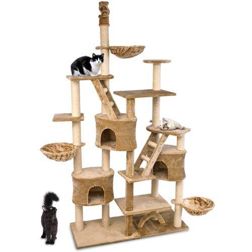 happypet cat013 kratzbaum katzenbaum deckenhoch 2 30 bis. Black Bedroom Furniture Sets. Home Design Ideas