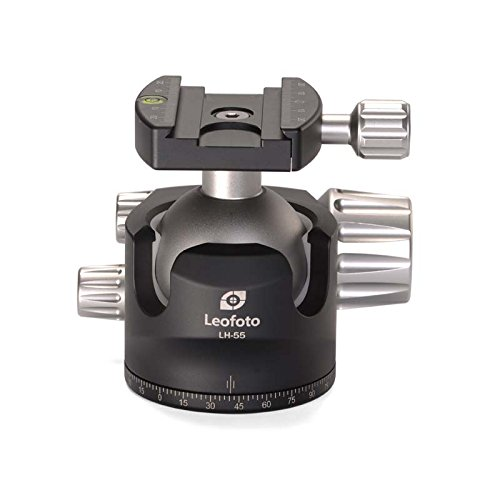LEOFOTO LH-55 55mm Low Profile Ball Head Arca / RRS Compatible w Independent Pan Lock ()