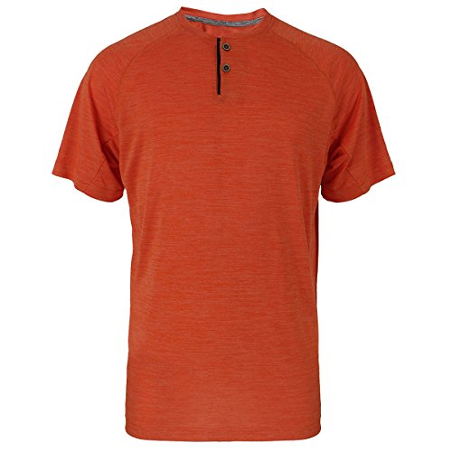 UPF 50+ Short Sleeve Performance T Henley Shirt for Men Casual Athletic Sports Dry Fit Tee with 2 - Athletic Button Two Henley