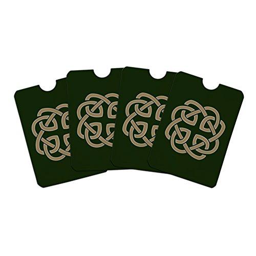 Set Celtic Love Knot (Celtic Knot Love Eternity Credit Card RFID Blocker Holder Protector Wallet Purse Sleeves Set of 4)