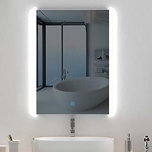Amazon.com: Stamo Backlist Led Lighted Mirror for Bathroom