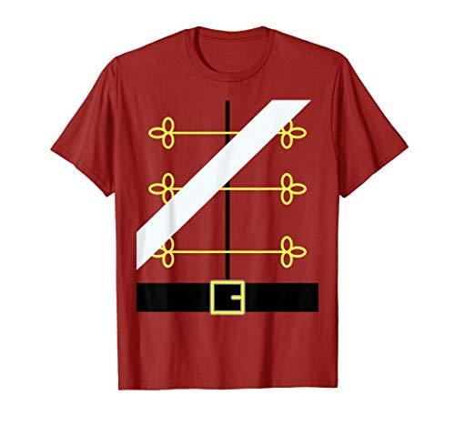 Nutcracker Toy Soldier Uniform, Funny Dress up Christmas Tee ()