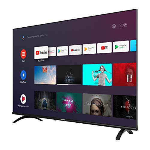 SKYWORTH E20 Series 40-Inch Smart TV | Voice Remote with Google Assistant - Android Operating System | 1mm Thin Bezel - 1080P - LED - A53 - Quad-Core | 40E20 model
