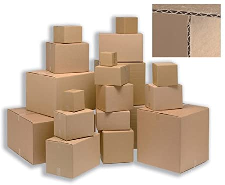 Ambassador Ref SC-13 Lot de 25 Carton simple paroi Livré à plat 330 x 254 x 178 mm (Import Royaume Uni)