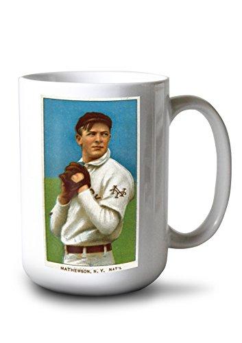 Lantern Press New York Giants - Christy Mathewson - Baseball Card (15oz White Ceramic Mug)