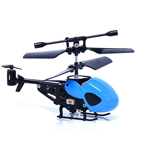 Dacawin RC 2CH Mini rc helicopter Radio Remote Control Aircraft Micro 2 Channel (Blue)
