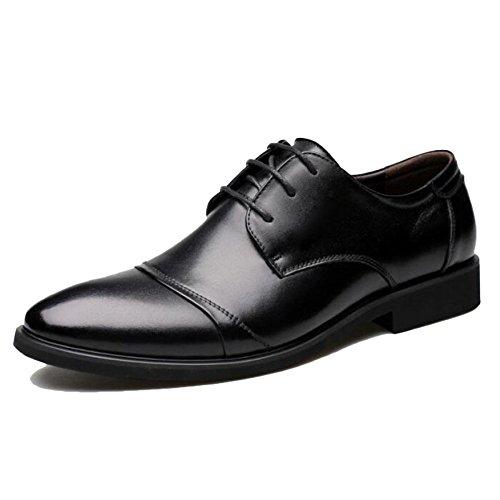 Chaussures Chaussures Véritable Black Lace De en Chaussures Dress Cuir Chaussures en Hommes Soirée Chaussures Derby Noir up Sport Business Cuir pour gqgRavxwr
