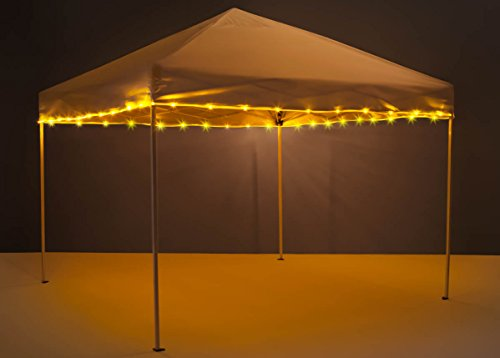 Brightz, Ltd. Canopy Brightz LED Tailgate Canopy and Patio Umbrella Accessory Lighting Kit (Lights Only), Gold by Brightz, Ltd.