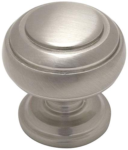 - 25 Pack - Cosmas 7498SN Satin Nickel Cabinet Hardware Round Knob - 1-1/4