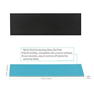 Advancing Gene PCIe NVMe M.2 SSD Heatsinks Cooling Fin with Nano Silicone Thermal Pad