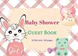 Baby Shower Guest Book : Modern Welcome Baby Message Book, Photo: Memory Journal, Advice for Parents and Wishes for baby, Guestbook With Gift Log. 160 Pages.: Volume 4 (Girl Pink new born)