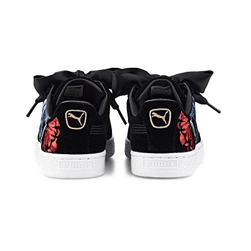 Calzado W Emb Puma Heart Basket Black Hyper fOgnOxw