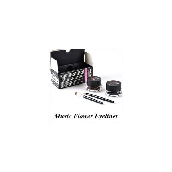 Music Flower Long Lasting Gel Eyeliner, Black and Brown