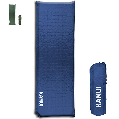 KAMUI Self Inflating Sleeping Pad - 2 Inch Thick Camping Pad Connectable with Multiple Mats for Tent and Family Camping
