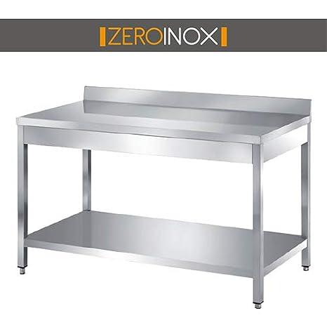 ZeroInox Mesa Bajo encimera de Acero Inoxidable con 83L y ...