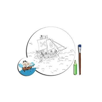 Bateau Coloriage Couleur.Decoloopio Tableau A Peindre A Colorier Bateau Pirate Kit De