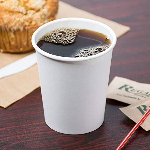 Choice 8 oz. White Poly Paper Hot Cup - 1000/Case (7 Cases)