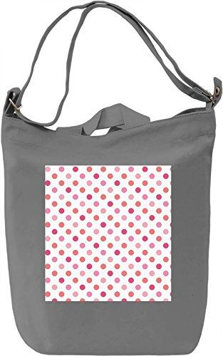 Pink Bubbles Print Borsa Giornaliera Canvas Canvas Day Bag| 100% Premium Cotton Canvas| DTG Printing|