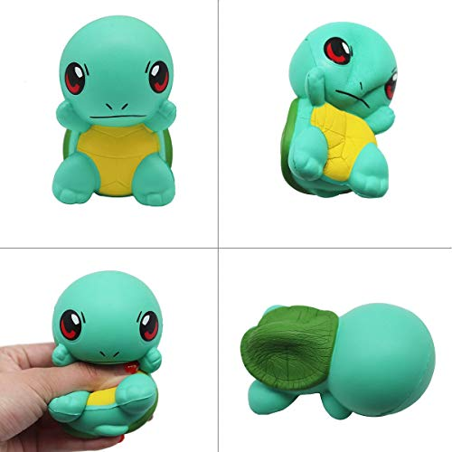 (Panamat Mobile Phone Straps - New Green Baby Turtle Cute Squishy Slow Rising Jumbo 10CM Soft Squeeze Kawaii Cartoon Bread Charms Cake Kid Gift Squishies Toys 1)