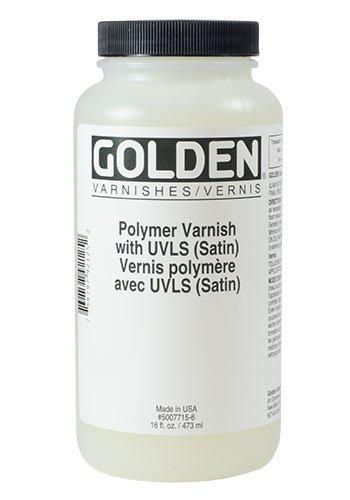 Golden 16 Oz Polymer Varnish Matte W/Uvls