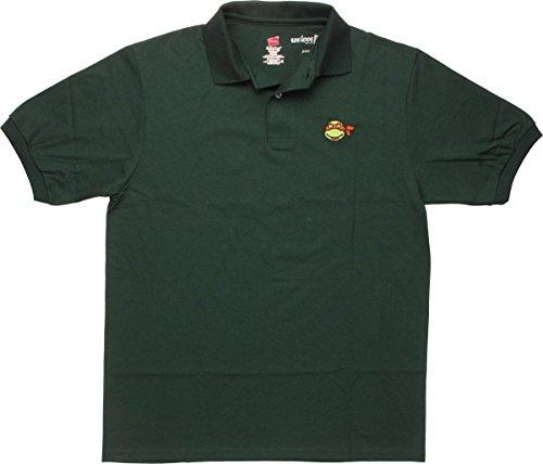 Ninja Turtles Michelangelo Face Polo Shirt, Large]()