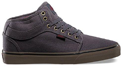 Hemp Skate Shoes (Vans Chukka Midtop Skate Shoes (7 D(M) US, (Hemp) Charcoal/ Gum))