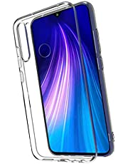 UKCOCO Transparent Phone Case Silicone Phone Shell Shock Absorption Phone Cover Phone Case Compatible for Redmi Note8pro