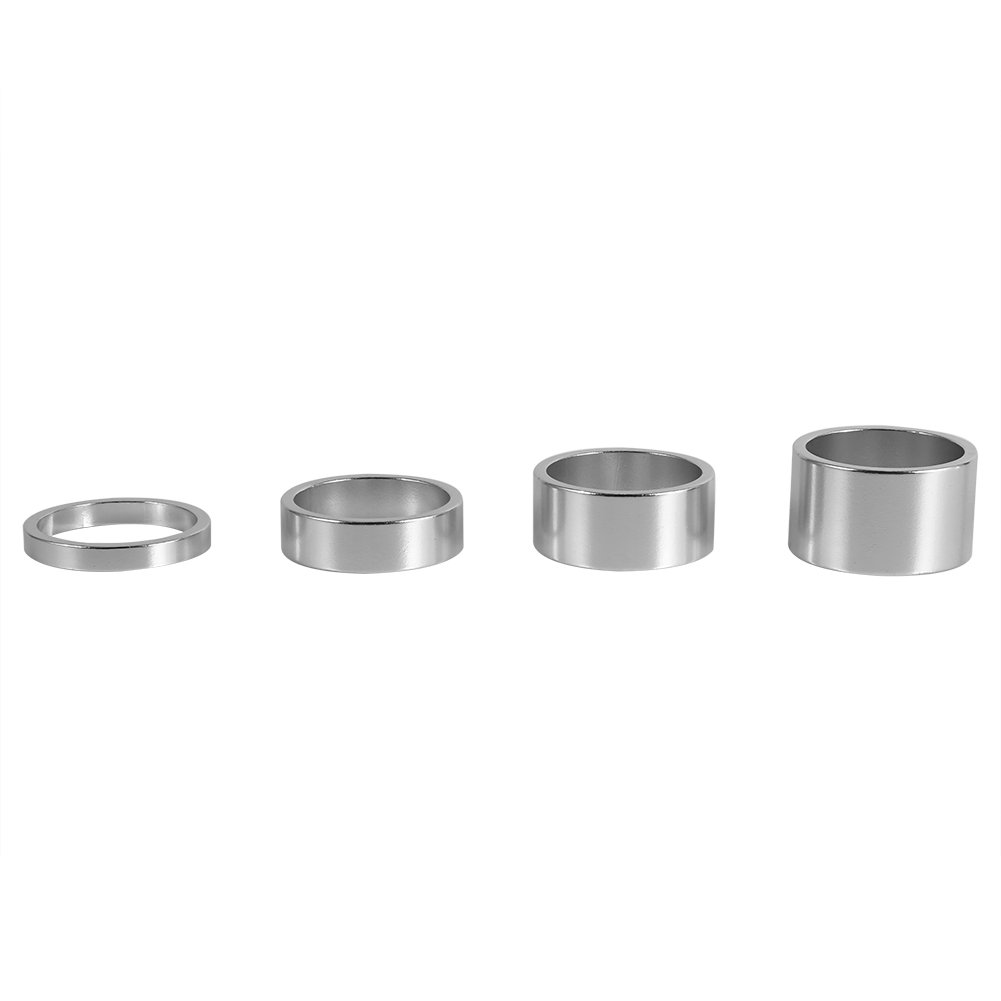4Pcs Bike Headset Spacer 4 Colors Aluminum Alloy Washer Headset Spacer 5mm//10mm//15mm//20mm For Mountain Road Bike