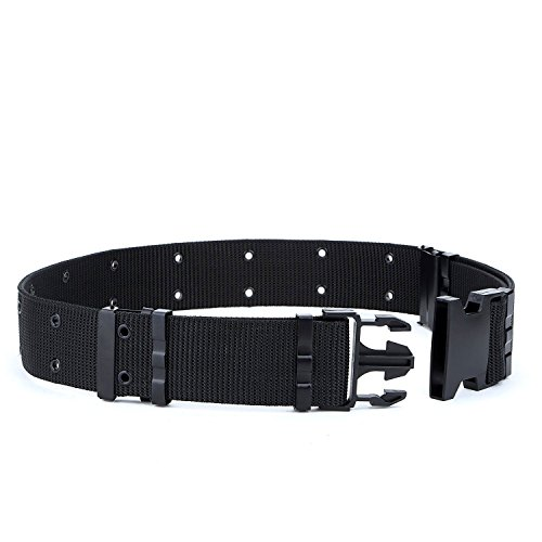 Men's Outdoor Military Web Tactical Belt Security Adjustable Utility Plastic - Adjustable Web