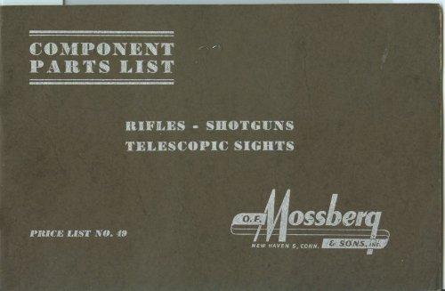 Mossberg Component Parts List Price List No. 49