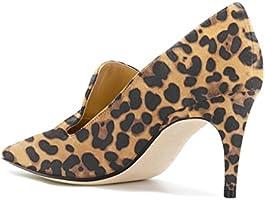 70fb593c345 YDN Women's Low Heels Slip on Loafer Stilettos Pumps Pointy Toe ...