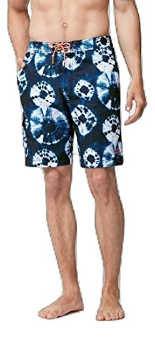 Tommy Bahama Deep Sea Indigo Board Swim Shorts (Color: Maritime, Size XXL)