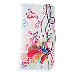 MOFY- hermosa mariposa de la PU cuero caso de cuerpo completo con ranura para tarjeta para Samsung Galaxy Note 3 Lite N750 / n7505 neo