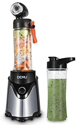 DEMU Personal Vacuum Bullet Blender Nutrient & Vitamin Extraction with Travel Sport Bottles