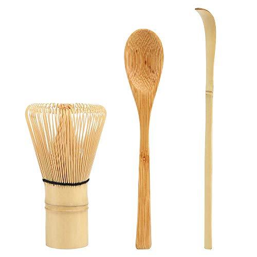 LEMESO Kit de te matcha Japonesa- Batidor y Cuchara para Match Heramiento de Bambu Chasen