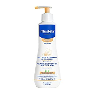 Mustela Nourishing Cleansing Body Gel with Cold Cream for Dry Skin, 10.14 fl. oz.
