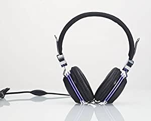 Premium Over-Head Stereo Headset Headphones w/Mic for Samsung Galaxy Core Prime G360/Prevail LTE/Galaxy Grand Prime G530/G5308/G530H (Purple) + MYNETDEALS Stylus