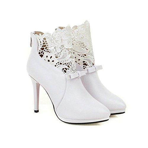 Talons L'hiver Femmes Pour De Chaussure Et Bout Fourrure Cheville w7qEESUg
