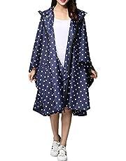 LINENLUX Regen Poncho Jacke Mantel für Erwachsene Ponchos Regen Kapuze Wasserdicht mit Reißverschluss im Freien