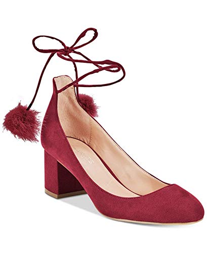 CHARLES BY CHARLES DAVID Womens Libby Closed Toe Ankle Wrap, Cabernet, Size 7.0