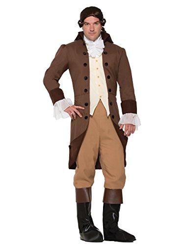 Forum Men's Colonial Gentleman Patriotic Costume, Brown,
