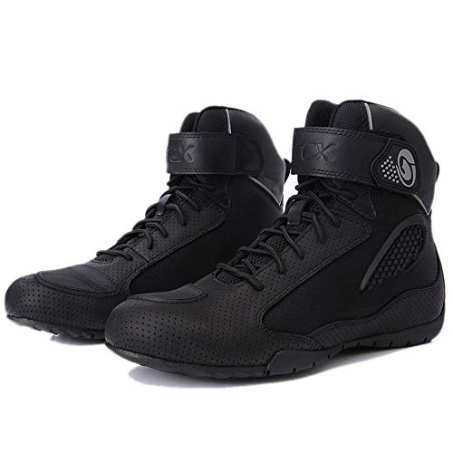 HEROBIKER Motorcycle Combat Boots Racing Hiking Outdoor Work Mid Ankle Shoes for Men (8, L60625)