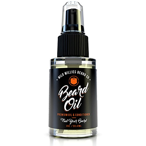 The Manskape Wild Willie's Liquid Gold Beard Oil, the Only Beard Oil 'Nut Free', Made with 10 Organic Ingredients to Condition, Treat and Promote a Fast Growing, Healthy and Study Beard, 2 oz.
