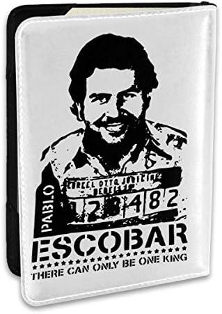 エスコバル 麻薬王 英雄 アトレチコ オーナー パスポートケース メンズ 男女兼用 パスポートカバー パスポート用カバー パスポートバッグ ポーチ 6.5インチ高級PUレザー 三つのカードケース 家族 国内海外旅行用品 多機能